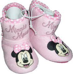 Minnie mouse booties.... ADORABLE!