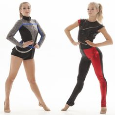 Rocker inspired high kick dance costumes- these are both custom costumes, created completely by the dance team coach. You can create your own too!