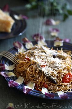 Will Cook For Friends: Artichoke and Asparagus Capellini - Simply Spring High Protein Vegetarian Recipes, Veggie Recipes, Cooking Recipes, Healthy Recipes, Healthy Foods, Healthy Fruits, Healthy Eating, Veggie Main Dishes, Asparagus Recipe
