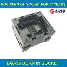 99.80$  Watch here - http://alim6z.shopchina.info/go.php?t=32791917655 - BGA56 OPEN TOP Burn in socket pitch 0.8mm IC size 8*10mm BGA56(8*10)-0.8-TP04/50N BGA56 VFBGA56 burn in programmer socket 99.80$ #bestbuy