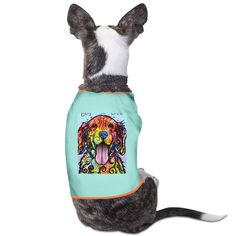 TvT Rainbow Dog Golden Retriever Face Dog Coats ** For more information, visit now : Dog Cold Weather Coats