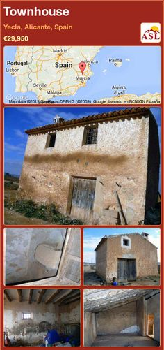 Townhouse for Sale in Yecla, Murcia, Spain with 1 bedroom, 1 bathroom - A Spanish Life Murcia, Valencia, Portugal, Alicante Spain, Townhouse, Maine, Spanish, Bath, Country