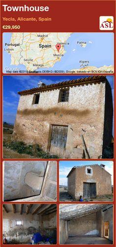 Townhouse in Yecla, Alicante, Spain ►€29,950 #PropertyForSaleInSpain