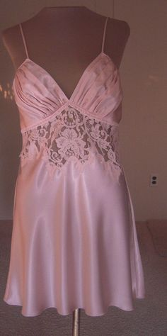 Vintage Jonquil Pale Pink Short Nightgown by Diane Simandi from Beca's Boutique