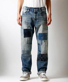 ORIGIN DENIM CASE STUDY 29 #MensFashionRugged Rare Clothing, Mode Jeans, Gents Fashion, Patchwork Jeans, Indigo, Vintage Denim, Denim Pants, Distressed Denim, Case Study