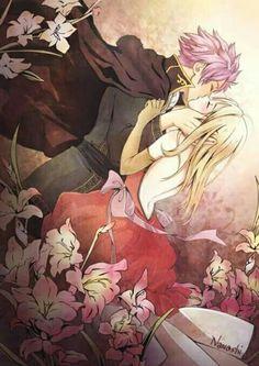 Natsu and Lucy sweet Kiss