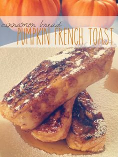 Pumpkin French Toast made with Cinnamon Bread Breakfast Time, Breakfast Ideas, Breakfast Recipes, Pumpkin Recipes, Fall Recipes, Pumpkin French Toast, Fire Food, Twisted Recipes, Good Food