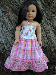 American Girl Doll Sundress 3 Tier  Dress by FreeStyleDoll on Etsy, $10.00