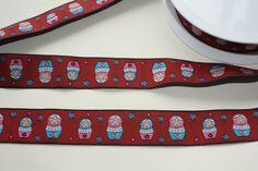 Matryoshkasrussian dolls embroidery fabric by betweeneedlesandpins, $6.50