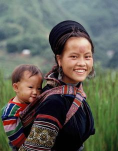 Hmong mother and baby