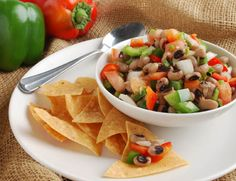 New Years Eve Blackeyed Pea Salsa Fresca Vegetables For Babies, Winter Salad, Texas Caviar, Fresh Fruit, Side Dishes, Appetizers, Vegetarian, Healthy Recipes, Stuffed Peppers
