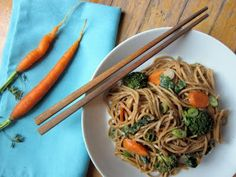 soba noodles with spicy peanut sauce from cupcakes and kale