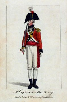 A Captain in the Army           Tabart 1805  from  'The Book of Ranks and Dignitaries of British Society'