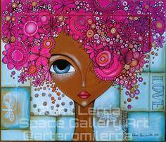 Billedresultat for Romi Lerda Wal Art, Afrique Art, Arte Pop, Whimsical Art, Art Plastique, Rock Art, Mixed Media Art, Art Girl, Painting & Drawing