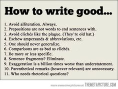 How to Write Good: Important Writing Tips