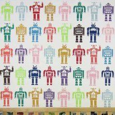 Robots-allover-stencil-nursery-boys-DIY-wallpaper-walls