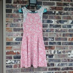 Rose pink and white lace dress !  HP 5.27.16 Can you say SPRING ?!?!?  Has seen wear but is so cute !!!!! Soprano Dresses