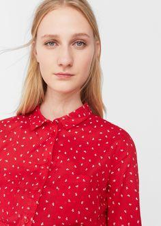 Printed cotton shirt -  Woman | MANGO United Kingdom