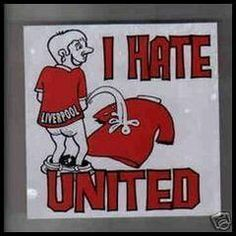 I Hate Manchester United Manchester City, Manchester United, Ynwa Liverpool, Hate Men, Man United, The Unit, Football, Baseball Cards, Black And White