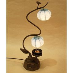 Mulberry Rice Paper Ball Handmade Heat Haze Design Art Shade Round Globe Lantern Blue Asian Oriental Decorative Bedside Accent Chic Modern Bedroom Brown Table Lamp Antique Alive Paper Lamp http://www.amazon.co.uk/dp/B004WQVO6W/ref=cm_sw_r_pi_dp_zbqVvb14T4GPP