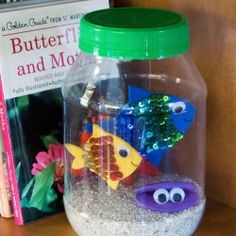 Make a fun jar aquarium using craft foam, sequins, and a plastic Mayo jar. Fun to make with friends!The Effective Pictures We Offer You About Fishes food A quality picture can tell you many things. You can find the most beautiful pictures Creative Activities For Kids, Projects For Kids, Diy For Kids, Crafts For Kids, Summer Art Projects, Elderly Activities, Dementia Activities, Indoor Activities, Family Activities