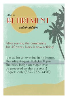 Free retirement invitation templates for word google for Free retirement party invitation templates for word
