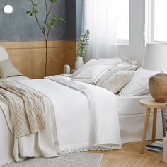 Image 1 du produit Parure de lit percale de coton dentelle