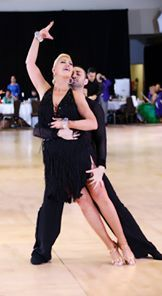 'Dancing the Latin rumba with Charlene Proctor and Hayk Arshakian.  Fred Astaire Cross Country Dance Championships 2016.'