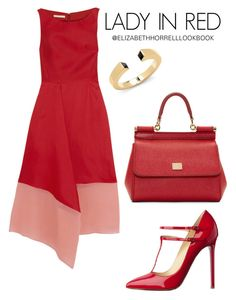 A fashion look from August 2015 featuring fitted dress, leather purses and cuff bracelet. Browse and shop related looks. Classy Outfits, Chic Outfits, Fashion Outfits, Womens Fashion, Fashion Trends, Floral Dress Outfits, Church Fashion, Professional Outfits, Polyvore Fashion