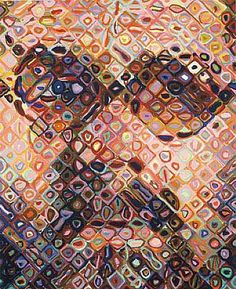 View Self-Portrait by Chuck Close on artnet. Browse more artworks Chuck Close from Contessa Gallery. Chuck Close Art, Chuck Close Portraits, Augustin Lesage, Palais Galliera, Pavement Art, Art Graphique, Art Lessons, Cool Art, Contemporary Art