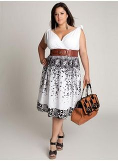 This could be one of your everyday plus size dresses for going to work and look good :)