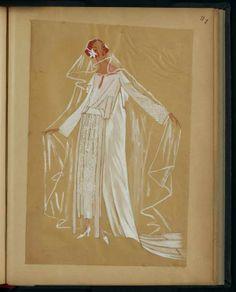 Robe de mariée  PARIS   1921 © Patrimoine Lanvin. #Lanvin125