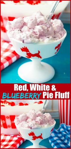 French Delicacies Essentials - Some Uncomplicated Strategies For Newbies This Red, White And Blueberry Pie Marshmallow Fluff Is Perfect For Patriotic Picnics, The Fourth Of July Or Any Day When You Want A Great Marshmallow Fluff Dessert 4th Of July Desserts, Easy Desserts, Delicious Desserts, Dessert Recipes, Frosting Recipes, Sweet Desserts, Salad Recipes, Fluff Desserts, Dessert Salads