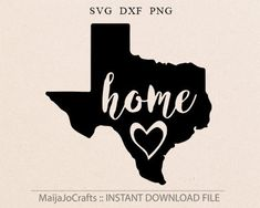Texas SVG file, State Svg Love Texas Cricut file Silhouette Vinyl Cutting file Vector Files, home st Silhouette Vinyl, Silhouette Design, Cross Symbol, Loving Texas, Texas Homes, Vinyl Shirts, Cute Crafts, Diy Crafts, Cricut Creations