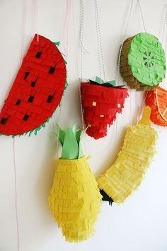 Piñatas de frutas, ¡que buena idea!