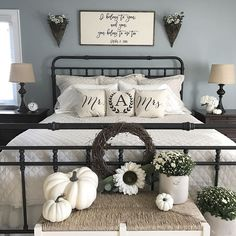 Fall Master Bedroom