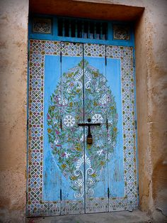 Door in the Courtyard of the Kasbah des Oudaias