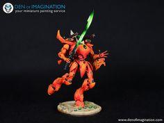 Orange Eldar Army - Den of Imagination