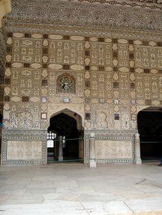 The Hall of Mirrors, Amber Palace,  Jaipur, Rajasthan, India