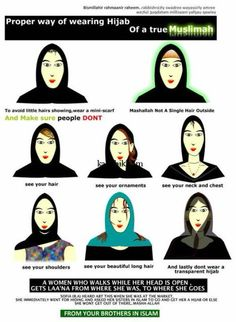 Your brothers in Islam give you important instructions about your hair.  #NoHijabDay