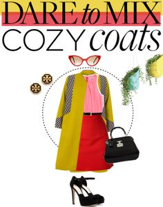 """Dare to Mix ... Cozy Coats"" by jpcarroll on Polyvore"