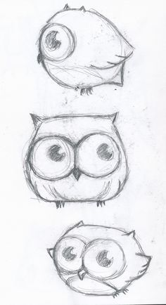 Cute little owl drawing... Like the middle one