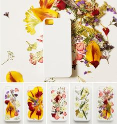 - Pressed dried flowers - Flat, solid white iPhone case - Clear craft glue - A flat and level work surface - Tape - Scissors - Parchment paper - Ruler - Thin-tip permanent marker - Timer ...