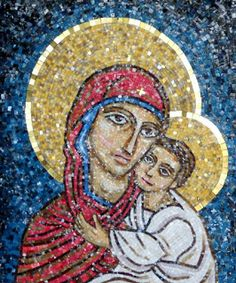IN ARTE HASHIMOTO: Madonna con bambino.  Check out more of our mosaic work here: inartehashimoto.blogspot.com