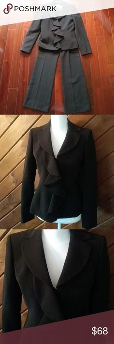 ANNE KLEIN PANTS SUIT LIKE NEW!! Excellent condition. Zero flaws. Like new. Snap button jacket for closure. Gorgeous suit! Anne Klein Jackets & Coats Blazers