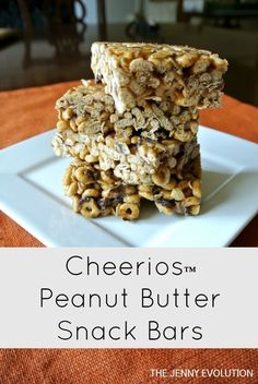 Cheerios Peanut Butter Snack Bars - Gluten Free! Can Make Peanut Free as well.
