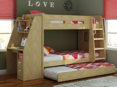 luxury solid wood white triple sleeper bunk beds | fairfield dream
