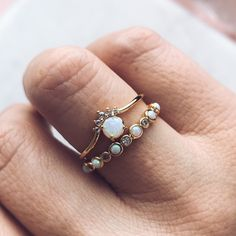 The Queen Bee Stacking Ring Set