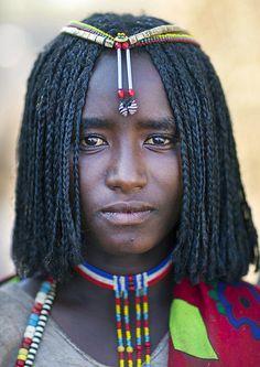 Africa    Karrayyu tribe teenager.  Photo taken in Metahara, Oromia, Ethiopia   © Eric Lafforgue