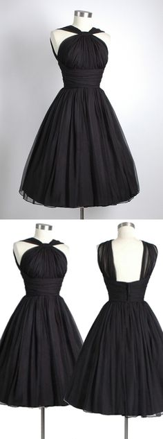 2016 homecoming dress, little black dress, 1950s vintage dress, party dress